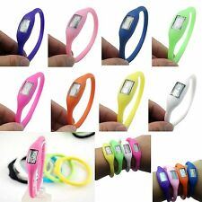 Digital Silicone Rubber Jelly Anion Negative Ion Sports Bracelet Wrist Watch