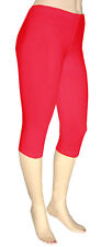Plus Size Cotton Spandex Capri Leggings
