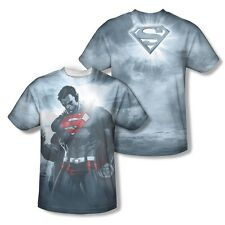 Superman Light of the Sun Power 2-Sided All Over Print Poly Shirt Adult S-3XL