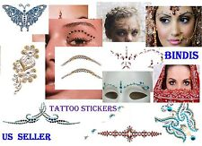 BINDIS*2013 HOT TREND*CRYSTAL GEMS STICKERS*TATTOOS*BODY ART* TEMPORARY MAKEUP