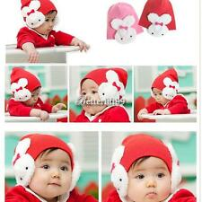 Winter Ear Flap Warm Girl Beanie Cap Crohet  Rabbit Hat Boys Toddler Kids BF9