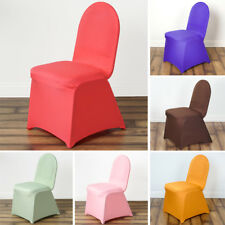 50 pcs SPANDEX Stretchable High Quality CHAIR COVERS Party Wedding Supplies SALE