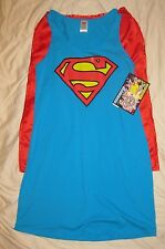 Superman Tank Dress with Removable Cape Officially Licensed DC COMICS COSTUME