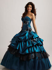 New Strapless Quinceanera Dresses Ball Gown Prom Pageant Dress Size Custom