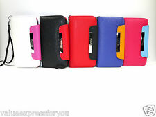 Flip Wallet Leather Case Cover Pouch For Apple iPhone 5 5s Free Screen Protector