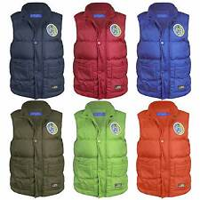 KIDS QUILTED BODYWARMER GIRLS OR BOYS SLEEVELESS PADDED GILET 3-14 YEARS