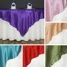 """60 x SATIN SQUARE 60x60"""" Table OVERLAYS Wholesale HUGE LOT Wedding Party Supply"""