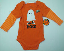 Baby Boys Halloween glow in the dark creeper bodysuit ghost boo Sz Newborn 0-3M