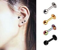 ED015 2PCS Surgical Steel Stud Earrings Tragus Cartilage Preventing allergy gift