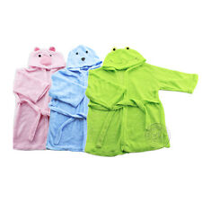 Baby Kids Bathrobes With Hat Beautiful Soft Strap Breathable Pure Color Hot