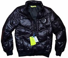 Men Winter Jacket Anorak Quilted Gianni Versace Jeans 100% Genuine Italy Style