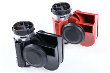 12V Compact Airhorn Air Horn Car Truck Vehicle Motorcycle Yacht Boat Black/Red