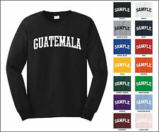 Country of Guatemala College Letter Long Sleeve Jersey T-shirt
