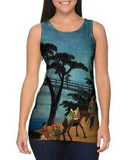 "Yizzam - Japanese Art - ""Print Donkey""- New Ladies Women Tank Top"