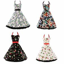 50s 60s New 2013 Vintage Polka Dot Swing Bunny Jive Rockabilly Dress In 5 Color