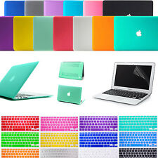 "Matte Hard Case Keyboard Cover Screen Protector For Mac Book Air 11"" 13"" Pro 13"