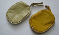 Brand new zipped purse in leather effect - neutral or yellow