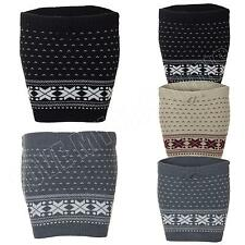 New Womens Ladies Nordic Fairisle Pattern Knitted Winter Mini Skirt Size 8 10 12