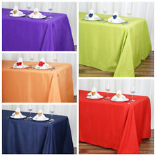 """90"""" x 132"""" Polyester Tablecloth Wedding Party Table Linens goes to the floor"""