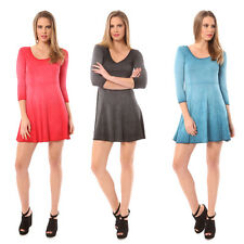 Just Add Sugar Womens Skater Dress 3/4 Sleeve Mini Black Orange Teal RRP $59.95