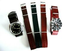 NATO G10 Buffalo Leather UTC RAF Military watch band strap Bonded IW SUISSE USA
