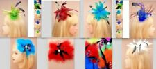 FABULOUS FLAMBOYANT FEATHER FLOWER FASCINATOR ALICE BAND or CLIP CORSAGE BROOCH