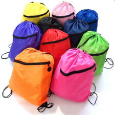 Quality Girls Boys Kids Drawstring Schoolbag Backpack PE Gym Swim Sports Bag