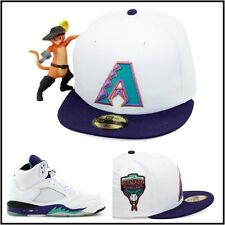 New Era Arizona Diamondbacks Fitted Hat 1998 Inaugural Season Jordan 5 V Grape