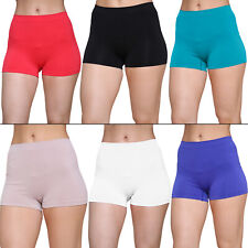 New Womens High Waist Boxer Boxers Pants Shorts Underwear Plus Size 16 18 20 22