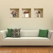 NEW 3 PCS WALL STICKERS 3D NICHE MAGIC REMOVABLE HOME DECOR DECALS LIVING ROOM