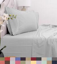 1800 Thread Count 4pc Bed Sheet Set Egyptian Quality Deep Pocket - All Sizes, 12
