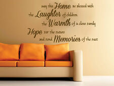 Quote - May This Home Living Kitchen Wall Art Free Squeegee! Vinyl Decal Sticker