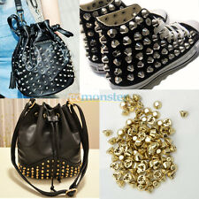 100Pcs Metal Bucket Shaped Stud Rivets Spike DIY for Bag/Shoes/Clothing Decorate