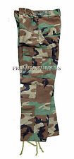 Genuine US Army Issue Woodland Camo BDU Trousers Pants in New Condition