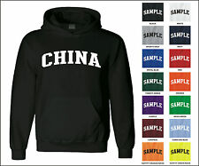 Country of China College Letter Adult Jersey Hooded Sweatshirt