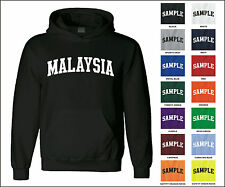 Country of Malaysia College Letter Adult Jersey Hooded Sweatshirt