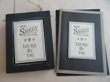 East of India Plaque and Card - How Sweet It Is To Be Loved By You