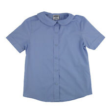 GENUINE SCHOOL UNIFORM GIRLS PETER PAN COLLAR SHORT SLEEVE BLUE NEW (SIZE 4-20)