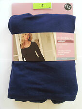 NEW MARKS AND SPENCERS HEAT GENERATING THERMAL LONG SLEEVE T-SHIRT  NAVY GLITTER