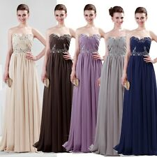 A-Line Princess Full-Length Sleeveless Chiffon Bridesmaid Evening Party Dresses
