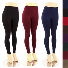 Womens Plus Size Fleece Lined Leggings Warm Thick Winter Tights Basic 1X 2X 3X