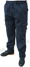 Mens Casual Smart Elasticated Fleece Lined Cargo Combat Winter Trousers