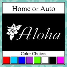 Aloha Hibiscus Decal Sticker wall car truck