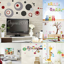 Colorful Cartoon Removable Vinyl Decal Wall Sticker Art Mural Kid Room Decor new