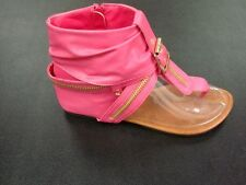 NEW Ladies Faux Leather Roman Gladiator Thong Sandals