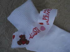 RUFFLE SOCKS Personalized Valentine Valentine's Day for Girls  Pageant Party