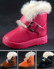 New Hot Children's Winter Warm Cute  Mianxie Snow Boots Waterproof C Style
