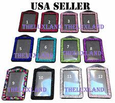 Wholesale Bulk Rhinestone Bling Vertical ID Badge Holder - Lanyard NOT included