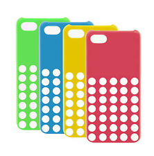 Colourful Ultra Smooth Silicone Case Cover For Apple iPhone 5C Retro Dots Hole