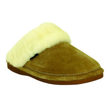 Old Friend Footwear Womens Genuine Sheepskin Scuff- Chestnut